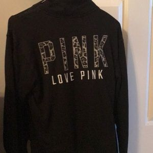 Tops - 3/4 zip pink sweatshirt